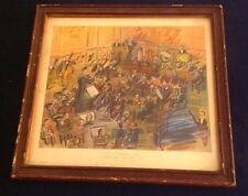 """Vintage Raoul Dufy """"ORCHESTRE–THE BAND (1942)""""Framed SIGNED Lithograph RARE VGC"""