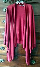 Moda International unstructured waterfall front cardigan cotton cashmere sz L