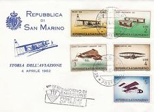 San Marino 1962 Aviation FDC VGC