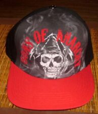 SONS OF ANARCHY ORIGINAL SKULL SNAPBACK EMBROIDERED HAT BLACK FLAT BILL CAP