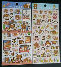 San-x Rilakkuma Snack time tea party Sticker Sheet LOT stickers Kawaii Japan