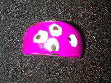 Pink, White, and Black Plastic Ring. Size P  (J100)