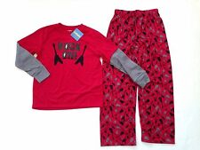NWT Gymboree Sz 5 Rock On Guitar Skull Red Double Sleeve Two-Piece Pajamas