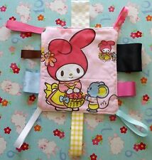 New My Melody rabbit baby girls pink Taggy Taggie Toy Cloth Sensory Blanket