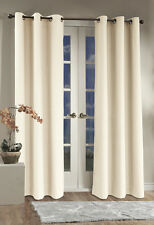 """Thermalogic Weathermate Grommet Top Insulated Curtain Pair, 80""""x84"""", Natural"""