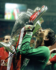 Edwin Van Der SAR Signed Autograph RARE Photo AFTAL COA Man Utd Champions League