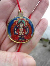 CHENREZIG AVALOKITESHVARA 4 ARM COMPASSION TIBETAN BUDDHIST PENDANT NECKLACE NEW
