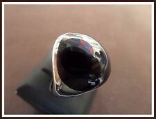 MEN'S TURKISH MADE JEWELRY / 925 STERLING SILVER / BLACK ONYX RING SIZE 10.5