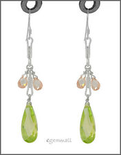 Sterling Silver Dangle Chandelier Earrings w/ CZ Drops