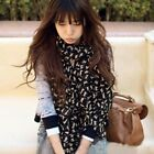 Fashion New Lady Women's Long Soft Wrap Lady Shawl Silk Chiffon Scarf Beautiful