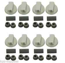 8 X Belling Oven Knob Silver Gas Hob Cooker Universal Switch Knobs + Adaptor