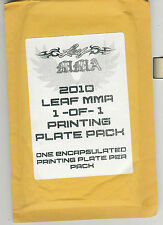2011 LEAF MMA 1/1 PRINTING PLATE PACK FACTORY SEALED 1 ENCAPSULATED PLATE PER