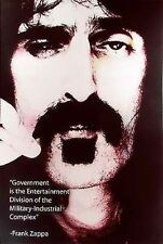 Frank Zappa Poster: Government is Entert. Div of the Military Industrial Complex