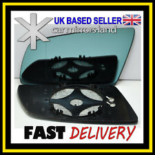Left Passenger Side Wing Mirror Glass HEATED ASPHERIC  BLUE BMW 5 E60 E61 03-10
