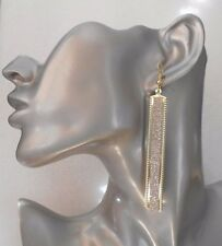 Fab Lightweight Gold Dangly Glitter Drop Earrings - Clip-on By Request