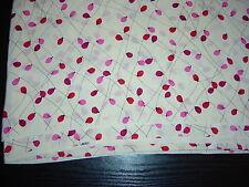 Liberty Vintage 100% silk crepe de chine 110 cm width,luftballons pink,red creme