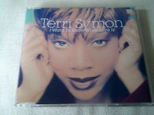TERRI SYMON - I WANT TO KNOW WHAT LOVE IS - UK CD SINGLE
