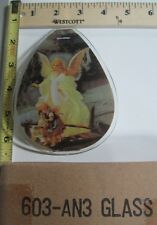 FREE US SHIP ok touch lamp replacement glass sm Angel with Children 603 AN3