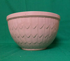 VINTAGE McCOY POTTERY CERAMIC MIXING BOWL FISH SCALE PATTERN--PINK