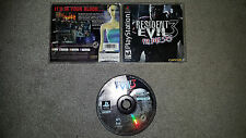 Resident Evil 3: Nemesis (Sony PlayStation 1, 1999)  Complete - Tested