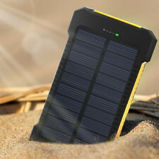 Waterproof 50000mAh Solar Power Bank Dual USB Battery Charger For Mobile Phones