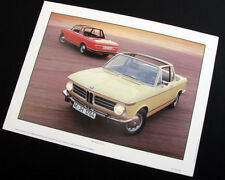BMW 2002 targa convertible poster
