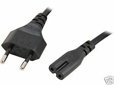 EU European 2 Prong AC Power Cord 2 Pin Adapter Cable For Laptop