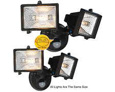 Pack Of 2 Twin-Spot Floodlight W/ Motion Sensor For Dusk-To-Dawn Illumination
