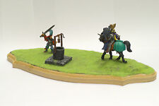 WARHAMMER BRETONNIA DIORAMA KNIGHT VS WARRIOR VINTAGE METAL  AMAZING PRO PAINTED