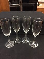 """Crystal Champagne Flute or  Wine Glasses 7 3/4"""" TALL !! VERY NICE!!!"""
