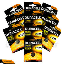 10 x Duracell Lithium Coin Cell battery CR2025 DL2025 3V *Watches Alarm* EXP2025