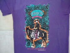 Vintage American Born & Bred Cowboy Horse Riding Purple T Shirt M