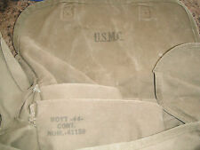 WW2 ORIGINAL USMC BOYT 1944 Dated MARINE CORPS Officer KHAKI OD#3 MUSETTE BAG