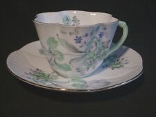 Shelley Green Iris DAINTY Cup & Saucer Pattern # 2387 - Hard to Find!!