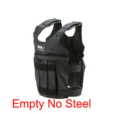 50kg Weight Vest Adjustable Weighted Fitness Workout MMA Gym Training Empty