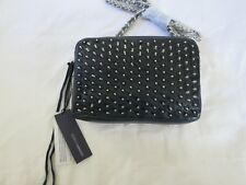 Rebecca Minkoff Flirty Crossbody NAVY silver spikes stud purse bag shoulder NEW