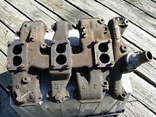 1957 1958 OLDS J2 370 ORIG 3X2 INTAKE MANIFOLD 571145 57 58 TRI POWER OLDSMOBILE