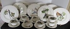 20 PCS ALFRED MEAKIN ENGLAND BIRDS OF AMERICA DINNER PLATES & C&S SETS AUDUBON