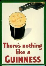Guinness smiling Pint Blechpostkarte Blechschild Metal Tin Card Sign 10 x 14 cm