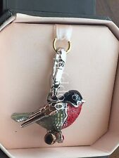 BRAND NEW! JUICY COUTURE RED ROBIN BIRD BRACELET CHARM IN TAGGED BOX