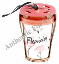 NEW 2015 Starbucks FLORIDA Pink Flamingo Tumbler Mug Cup Christmas Tree Ornament