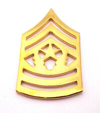 ARMY RANK E9 COMMAND SGT. MAJOR (GOLD) Military Veteran Hat Pin P15258 EE