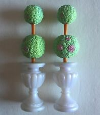 Fisher Price Loving Family Dollhouse Doll Topiary Bush Lot of 2