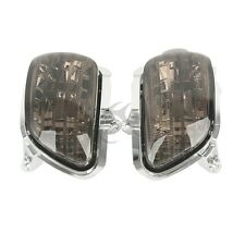 Smoke Front Left & Right Turn Signals Lens For Honda GL1800 Goldwing 2001-2015