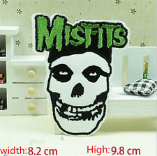 MISFITS Skull Embroidered Iron/Sew on Patches/Badge Applique Motif DIY Badges E2