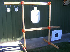 TommyGun Pistol Rack Kit Rifle Shooting Target AR500 Gong Stand Hang Steel DIY