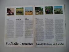 advertising Pubblicità 1988 TRATTORI FIAT SERIE 90/66
