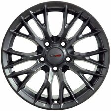 "Staggered Set 17x9.5/18x10.5 Corvette C7 Gunmetal Replica Wheels Rims 17""/18"""