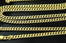 18k solid yellow gold flat curb link chain necklace 9.30 grams 25 inches