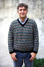 BOSS Mc.Kayn Long Sleeved Multicolor Striped Casuals Wool Knitted Jumper L SuPER